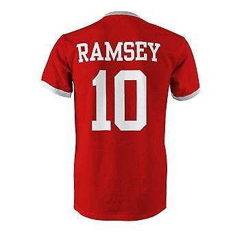 Aaron Ramsey 10 Wales land ringer t-shirt