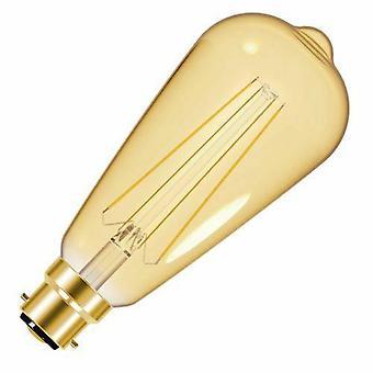 Aggregat Filament Gold LED ST64 B22 Energibesparande BLÅSlampor