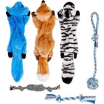 Spielzeug Hund Welpenspielzeug Hunde Spielsachen - 6 STK Hundespielzeug Welpe Kuscheltier für Hunde