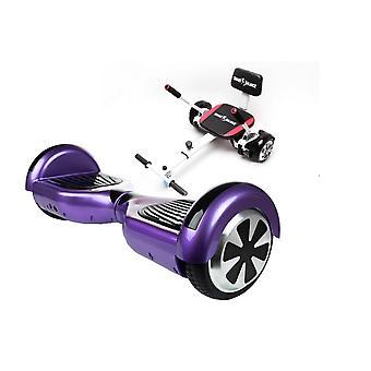 Smart Balance Hoverboard 6,5 Zoll, regelmäßige lila + Hoverseat mit Schwamm, Bluetooth, Led