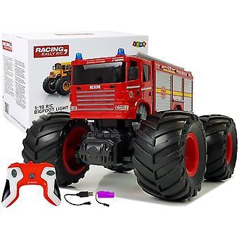 RC camion monstru camion de incendiu - 2.4G de la distanță - cu sunet