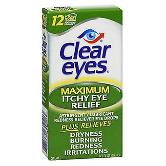 Med Tech Products Clear Eyes Itchy Eye Relief Drops, 0.5 oz
