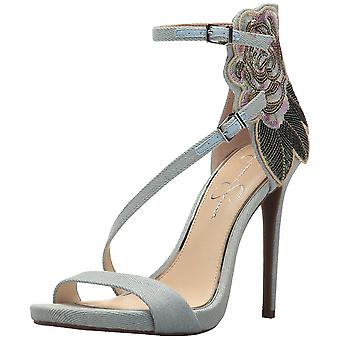 Jessica Simpson Womens Reesa Leather Open Toe Ankle Strap D-orsay Pumps