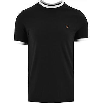 Farah Black Groves Ringer T-Shirt