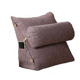 Swotgdoby Cotton And Linen Triangle Lumbar Support Pillow, Backrest For Pain Relief