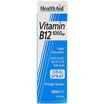 HealthAid فيتامين B12 1000ug رذاذ 20ml (801087)