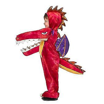 Δεινόσαυρος ζώο κινούμενα σχέδια ένα κομμάτι Πιτζάμες Σκηνή Απόδοση Κοστούμι (Style1)