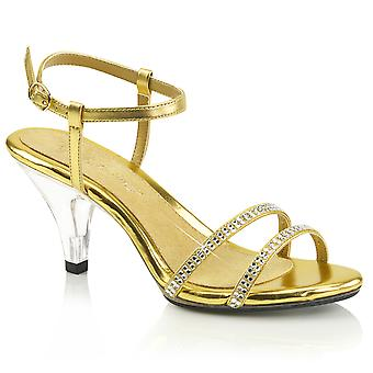 Fabulicious Frauen's Schuhe BELLE-316 Gold Met Pu/Clr