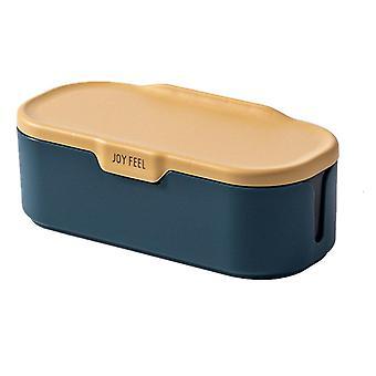 2Pcs Nordic Stil Salz und Pfeffer Gewürzglas Gewürze Würz-Organizer-Box Drei Gitter Gewürze Aufbewahrungsbox