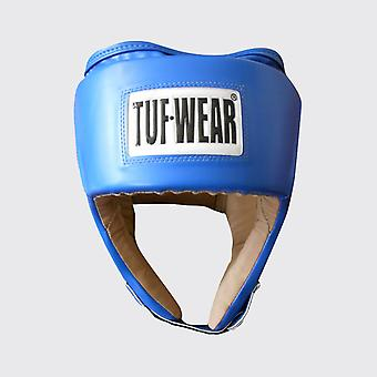 Tuf Wear Junior PU Open Face Headguard med PU Mocka Blå