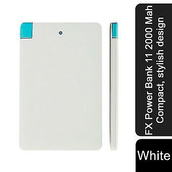 FX Power Bank 11 2000 Mah Compact, design élégant - Blanc