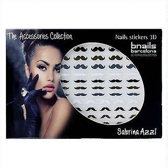 Nail art klistermärken Bnails Deco Sabrina Azzi Mustasch 105 Svart