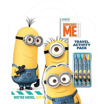 Despicable Me Travel Activity Pack Colouring Pad Pencils Childrens Activity Set