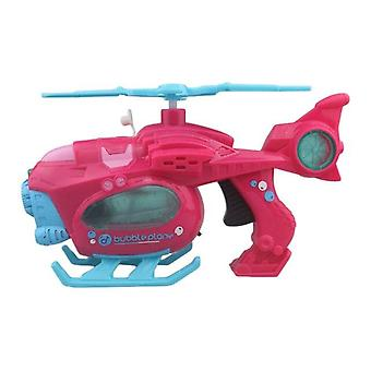 Lustige Magische Blasenblase Blasenblase Maschine Elektrische Automatische Bubble Maker Cartoon Helicopte (Pink)