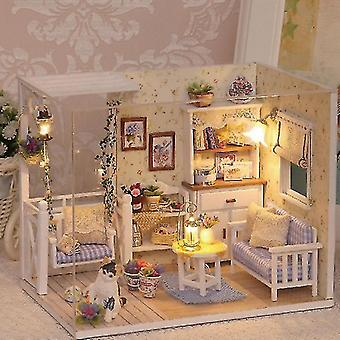 Dollhouse accessories cutebee diy doll house wooden doll houses miniature dollhouse furniture kit with led toys for