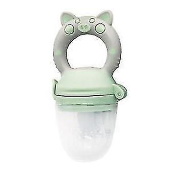 High quality scandinavian style non toxic toddler pacifier feeder and nibbler(Green Pig M)