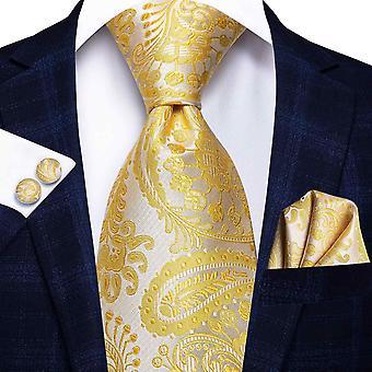 Ensemble cravate italienne 100% soie pour hommes, 8,5 cm (C-3234)