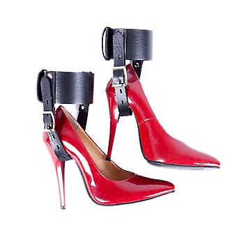 Adjustable Sexy Anklet Tie Pu Leather Ankle Cuff Heel Locking Belt Shoes Restraints Women Anklet Tie Party Game Bdsm Anklet