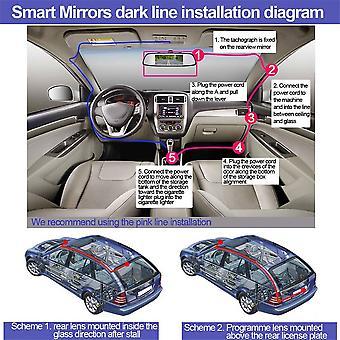 "Super Mini 4.3/5"" Car Digital Tft Lcd Mirror Monitor Rear View Assembly"