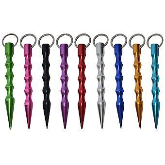 9pcs Pointed Flat Head Stick Short Stick Key Stick Fournit auto-défense Durable Broken Window Implement (noir + Rouge + Bleu foncé + Vert + Or + Ro