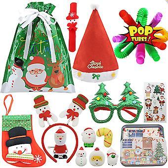 Noël Fidget Toys Sensory Set Autism TDAH Stress Relief Party favorise les enfants Cadeau d'anniversaire