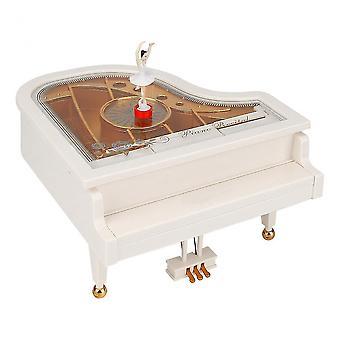 Piano Music Box Avec Ballet Dancer Gril Clockwork Music Box Ornement Classique Décoration de la maison
