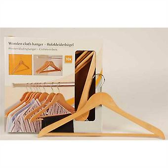Pack of 10 Wooden Clothes Hanger
