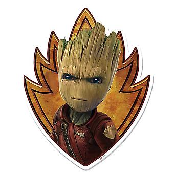Baby Groot Emblem Guardians of The Galaxy Vol. 2 3D Effect Cardboard Cutout Wall Art