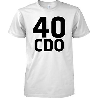 Lisensiert MOD-Royal Marines 40 CDO-tekst-Kids T skjorte