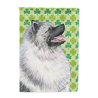 Carolines Treasures  SS4419-FLAG-PARENT Keeshond St. Patrick's Day Shamrock Port