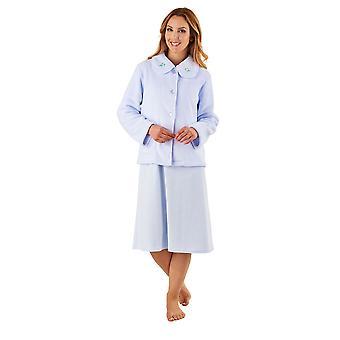 Slenderella BJ8305 femei ' s Blue robe mânecă lungă dressing rochie