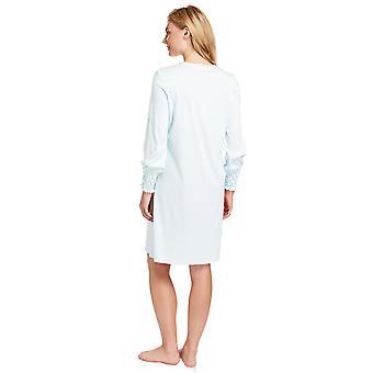Cristallo blu cotone notte abito Loungewear camicia da notte Feraud 3883038-10840 femminile