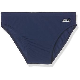 Zoggs 子供のコテスロー レーサー水泳パンツ - 海軍、12-13 年