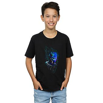 Marvel Boys Black Panther Neon Mask T-Shirt