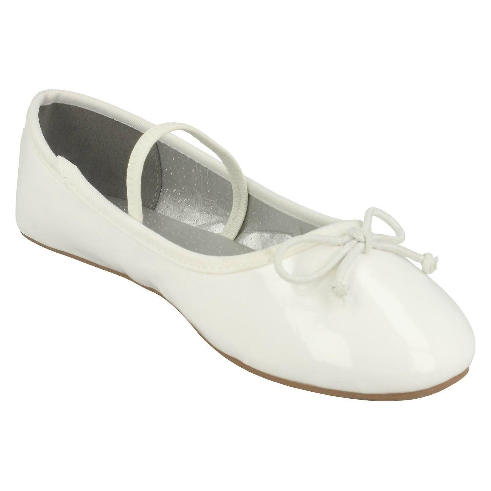 Girls Spot On Elastic Bar Ballerinas