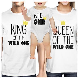 Re Regina Wild una corona bianco famiglia vestiti bambino doccia dono di corrispondenza