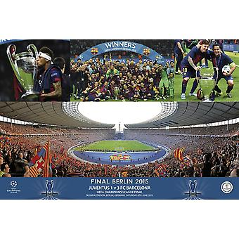 FC Barcelone Champions stade célébration affiche Poster Print