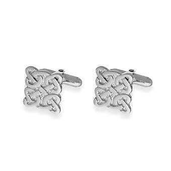 Sterling Silver tradizionali scozzesi Celtic Knotwork eternità Bar di Piazza gemelli