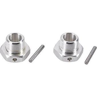 Reely 1:8 aluminiumsfælg hub 17 mm sekskant sølv 1 par