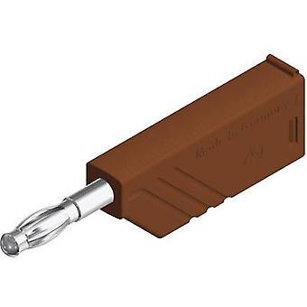 SKS Hirschmann LAS Nielsen WS braun lige klinge plug Plug, straight Pin diameter: 4 mm brun 1 computer(e)