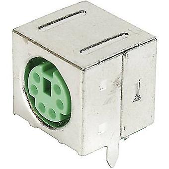 ASSMANN WSW A-DIO-FS06/YEŞİl Mini DIN panele monte li Soket, Korumalı Korumalı Pim Sayısı: 6