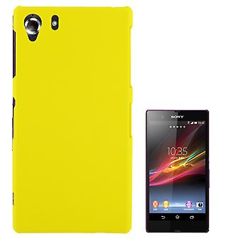 Cover plastic case for Sony Xperia Z1 yellow