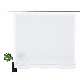 «My home Roman shade» Fribourg «uni transparent modern white Velcro band H/W 140/80 cm».