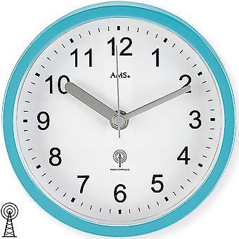 Bathroom clock / clock / table clock radio turquoise waterproof bathroom clock plastic housing