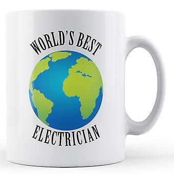 Eletricista de melhores do mundo - caneca impressa