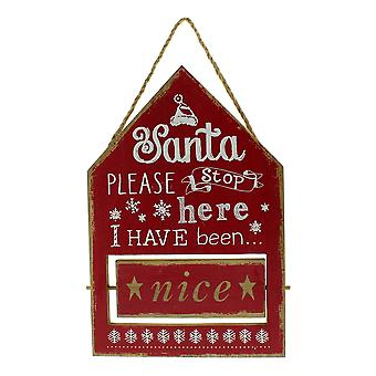 Festive Productions Red Naughty or Nice Flip Sign Christmas Xmas Decoration