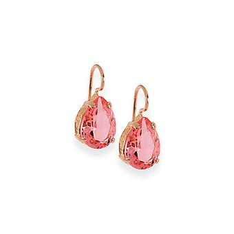 Pink earrings with crystals from Swarovski 353