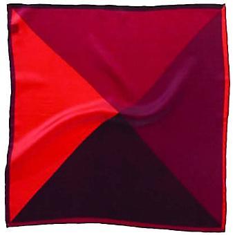 David Van Hagen 4 Colour Silk Pocket Square - Red
