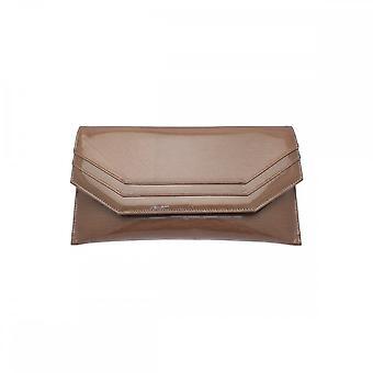 Sabrina Chic Mustard Leather Envelope Clutch Bag