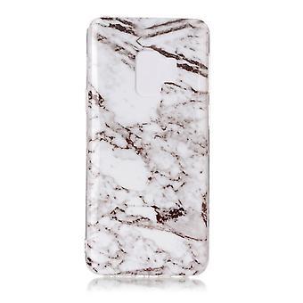 MTK Samsung Galaxy S9 SM-G960 TPU-Marble Bianco/Grigio